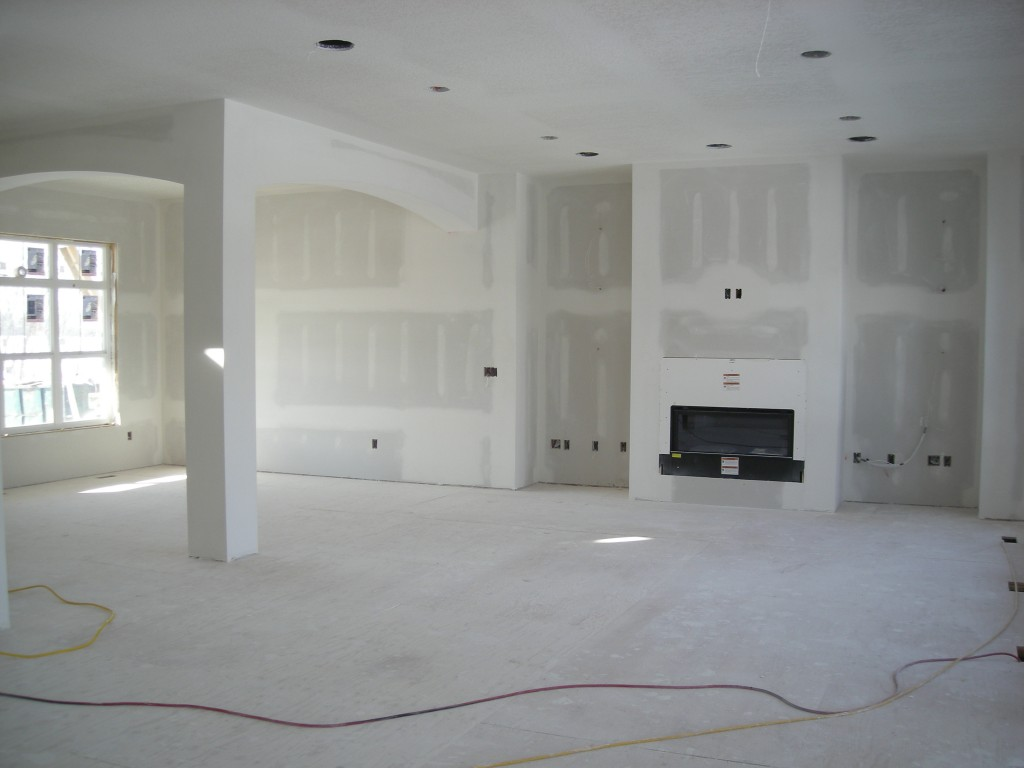 Sheetrock And Fireplace Of New Home In Terra Vista Nih Homes